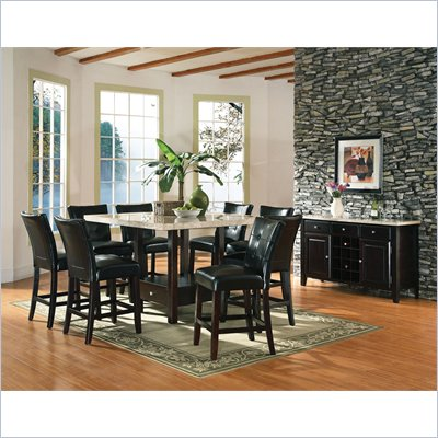 Steve Silver Company Monarch 7 Piece 54 Inch Counter Storage Dining Set (Free Chair Included)