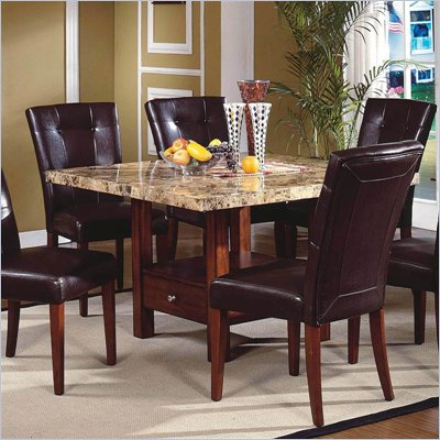 Steve Silver Company Montibello Casual Dining Table in Rich Cherry Finish