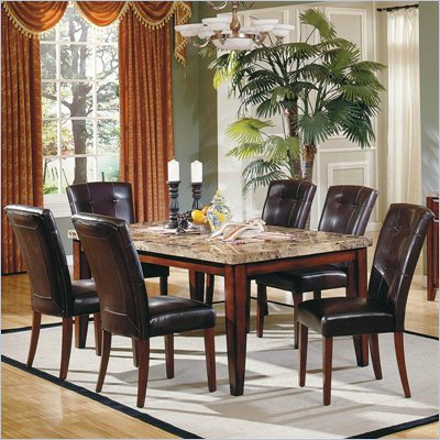 "Steve Silver Company Montibello 7 Piece 70"" Dining Set (Free Chair Included)"
