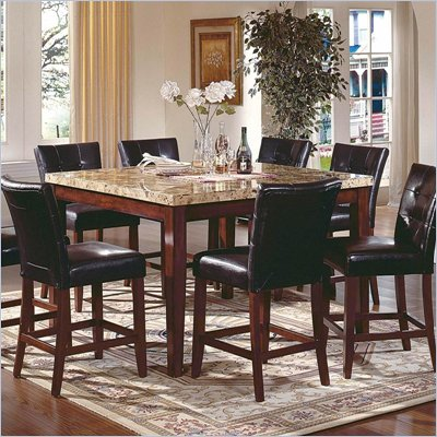 Steve Silver Company Montibello 7 Piece Counter Height Dining Set (Free Chair Included)