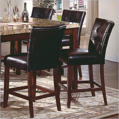 Steve Silver Company Montibello Counter Height Side Chair in Dark Brown