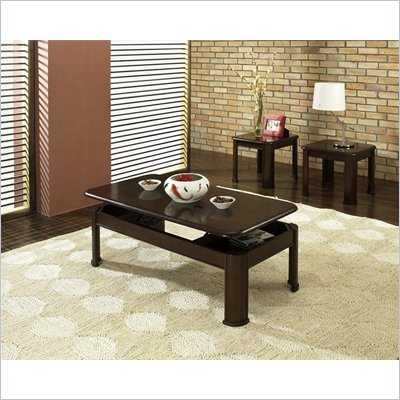 Steve Silver Company Nero 3 Piece Coffee Table Set in Espresso