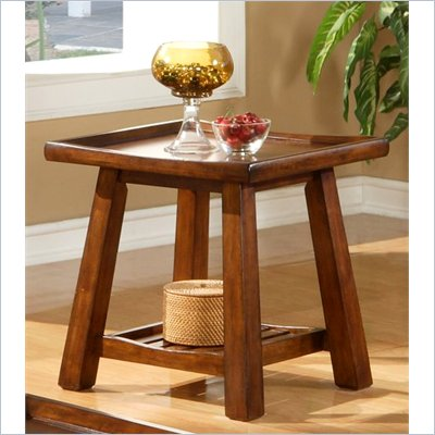 Steve Silver Company Noma End Table in Cherry Finish