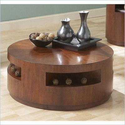 Steve Silver Company Orbit Cocktail Table with Casters in Cherry