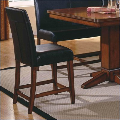 "Steve Silver Company Plato 24"" Counter Height Parson Chair in Black"