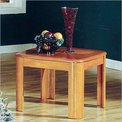Steve Silver Company Primo End Table in Oak