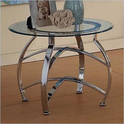 Steve Silver Company Reno Round Glass End Table
