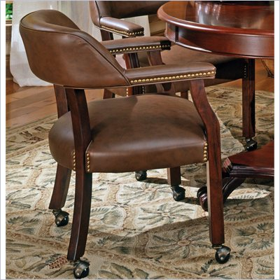 Steve Silver Company Tournament Box Seat Arm Chair with Casters