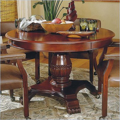 "Steve Silver Company Tournament 48"" Wood Round Casual Dining Table in Cherry Finish"