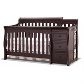 Sorelle Tuscany & More 4-in-1 Convertible Crib and Changer Set in Espresso Finish