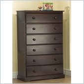 Sorelle Sophia Solid Pine 6 Drawer Chest in Espresso