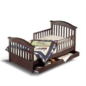 Sorelle Joel Solid Pine Toddler Bed in Espresso