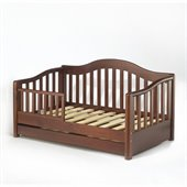 Sorelle Grande Solid Pine Toddler Bed in Cherry