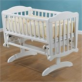 Sorelle Dondola Gliding Cradle with Mattress in White