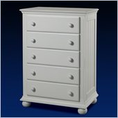 Sorelle Vista 5-Drawer Chest in French White
