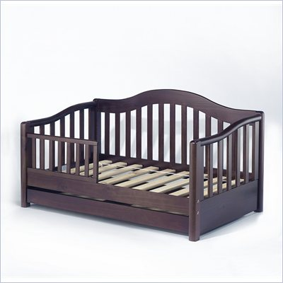 Sorelle Grande Solid Pine Toddler Bed in Espresso