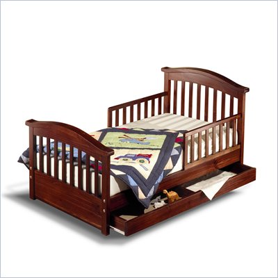 Sorelle Joel Solid Pine Toddler Bed in Cherry