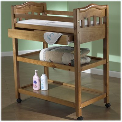Sorelle Nicki Solid Pine Changing Table in Oak on Pine