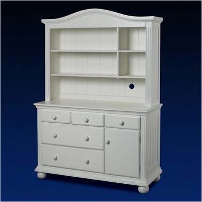 Sorelle Vista Dresser and Hutch Combo in French White