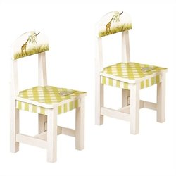 Fantasy Fields Hand Painted Alphabet Set of 2 Chairs