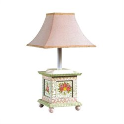 Fantasy Fields Crackled Rose Table Lamp