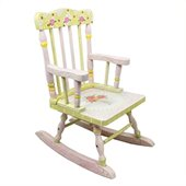 Teamson Kids Hand Painted Girl's Rocker in Crackle Finish