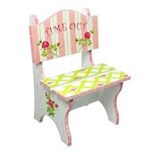 Teamson Kids Hand Painted Time Out Chair in Crackle Finish