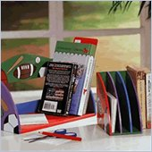 Teamson Kids Desktop Decor 3 Piece Set Hand Painted Sports Book Ends and Shelf