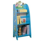 Teamson Kids Froggy Hand Painted Kids Wood Bookcase in Blue