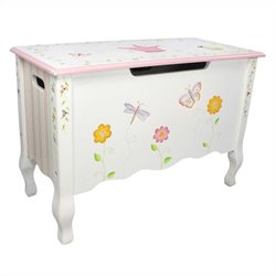 Fantasy Fields Hand Carved Princess and Frog Toy Chest