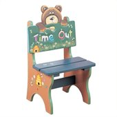 Teamson Kids Safari Hand Made & Painted Bear Themed Kids Time Out Chair