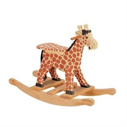 Fantasy Fields Hand Carved Safari Rocking Horse in Giraffe
