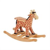 Teamson Kids Safari Hand Painted Giraffe Themed Kids Rocking Chair