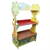 Teamson Kids Sunny Safari Hand Painted Kids 3 Shelf Wood Bookcase