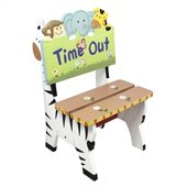 Teamson Kids Sunny Safari Hand Painted Kids Time Out Chair