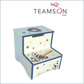 Teamson Kids Hand Painted Sports Step Stool with Storage