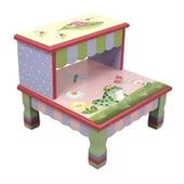 Teamson Kids Magic Garden Hand Painted Kids Step Stool