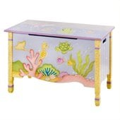Teamson Kids Under the Sea Hand Painted Kids Toy Chest/Box