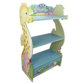 Teamson Kids Under the Sea Hand Painted Kids Wood Book Shelf