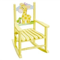 Fantasy Fields Hand Carved Safari Rocking Chair in Giraffe