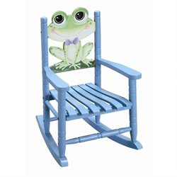 Fantasy Fields Hand Carved Froggy Rocking Chair