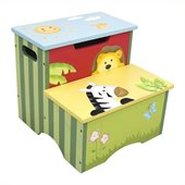 Teamson Kids Sunny Safari Painted Step Stool