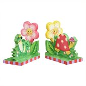 Teamson Kids Garden Hand Painted Book Ends