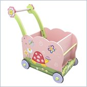 Teamson Kids Garden Hand Painted Push Cart