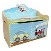 Teamson Kids Transportation Hand Painted Toy Chest