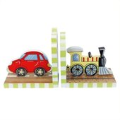 Teamson Kids Transportation Hand Painted Book Ends