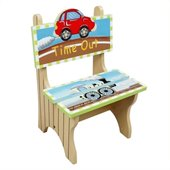 Teamson Kids Transportation Hand Painted Time Out Chair
