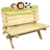 Teamson Kids Sunny Safari Outdoor Bench