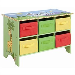 Fantasy Fields Hand Painted Sunny Safari Storage Cubby Base Set