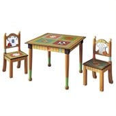 Teamson Kids Little Sports Fan Table with 2 Chairs Set